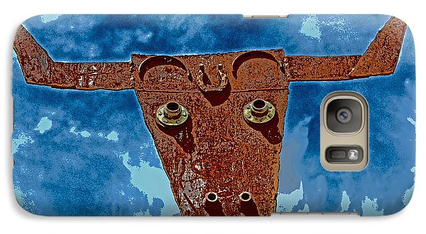 Galaxy Case featuring the photograph A Lucky Bull by Lynn Sprowl