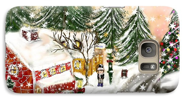 Galaxy Case featuring the painting A Magical Frost by Lori  Lovetere