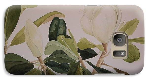 Galaxy Case featuring the painting A Magnolia Duet by Nancy Kane Chapman