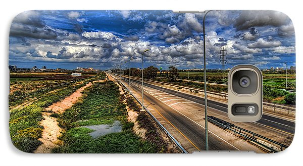 Galaxy Case featuring the photograph a majestic springtime in Israel by Ron Shoshani
