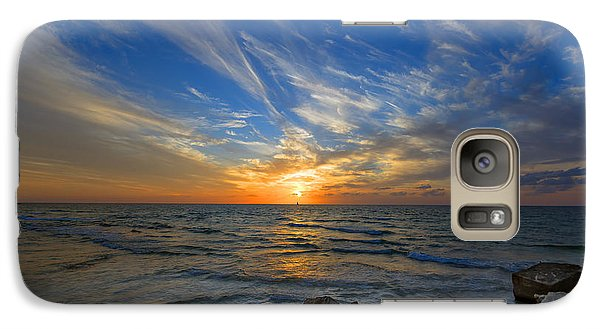 Galaxy Case featuring the photograph A Majestic Sunset At The Port by Ron Shoshani