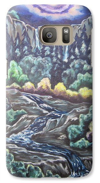 Galaxy Case featuring the painting A Majestic World by Cheryl Pettigrew