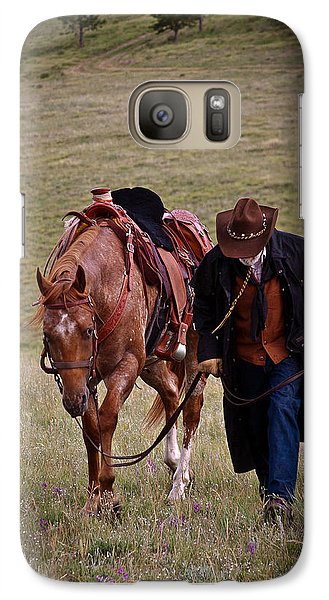 Galaxy Case featuring the photograph A Man And His Horse by Steven Reed