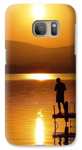 Galaxy Case featuring the photograph A Man And His Thoughts  by Mike Ste Marie