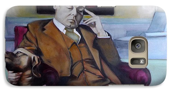 Galaxy Case featuring the painting A Man's Best Friend by Irena Mohr