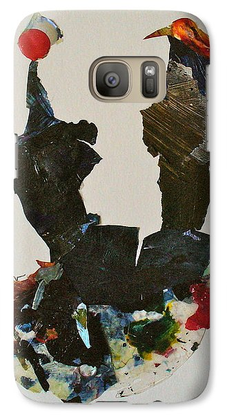 Galaxy Case featuring the mixed media A Match Made In Heaven by Mary Sullivan