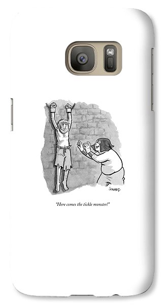 Dungeon Galaxy S7 Case - A Medieval Torturer Approaches A Hanging by Benjamin Schwartz