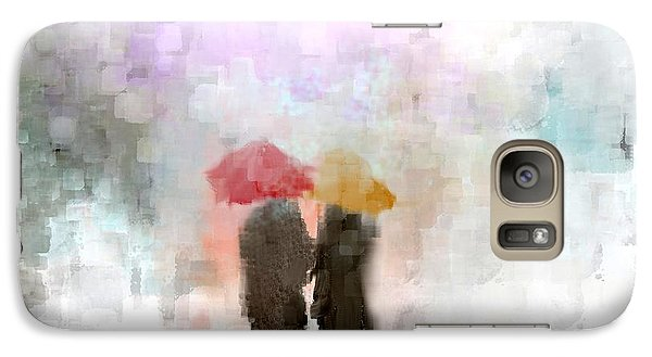 Galaxy Case featuring the painting A Meeting In The Rain by Jessica Wright