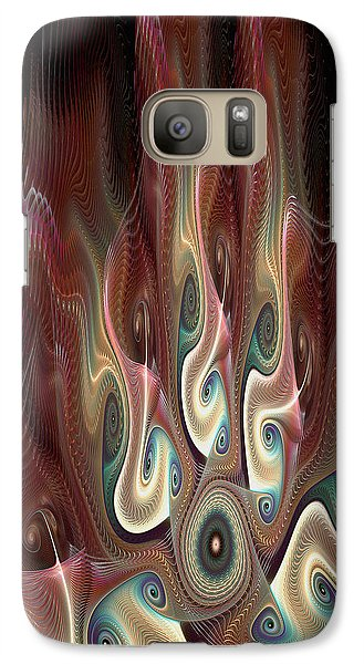 Galaxy Case featuring the digital art A Meeting Of The Minds by Kim Redd