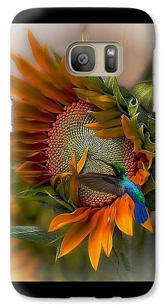 Sunflower Galaxy S7 Case - A Moment In Time by John  Kolenberg
