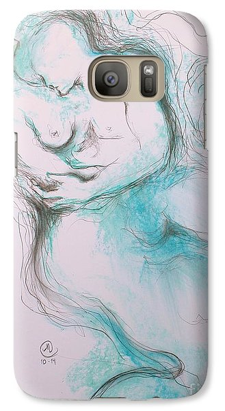 Galaxy Case featuring the drawing A Moment by Marat Essex