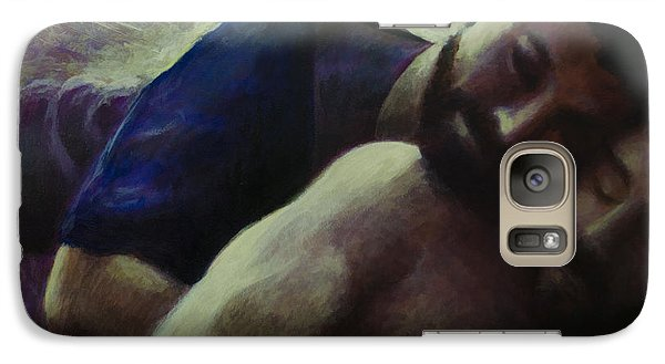 Galaxy Case featuring the painting A Moment's Memory by Ron Richard Baviello
