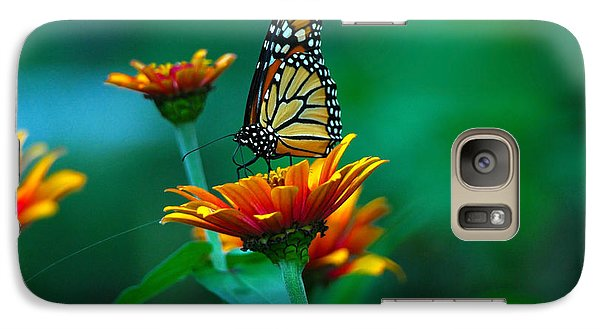 Galaxy Case featuring the photograph A Monarch by Raymond Salani III