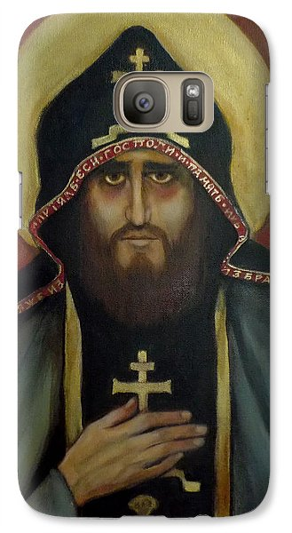 Galaxy Case featuring the painting A Monk by Irena Mohr