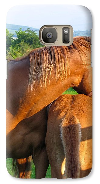 Galaxy Case featuring the photograph A Mother's Love by Suzanne Oesterling