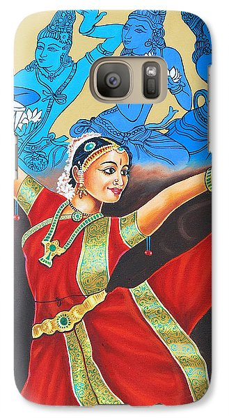 Galaxy Case featuring the painting A Mystic Communion With God by Ragunath Venkatraman