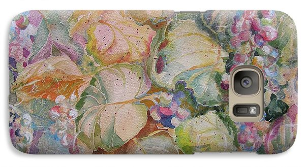 Galaxy Case featuring the painting A New Beginning by Mary Haley-Rocks