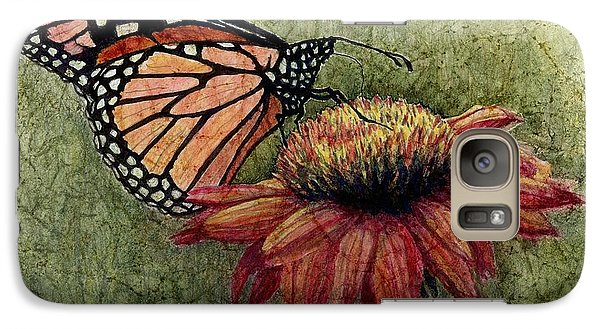 Galaxy Case featuring the painting A New Creation From A Butterfly In My Garden by Janet King