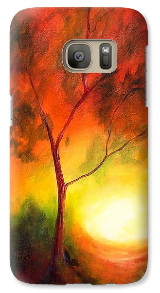 Galaxy Case featuring the painting A New Day by Alison Caltrider