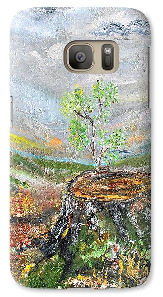 Galaxy Case featuring the painting A New Day by Evelina Popilian