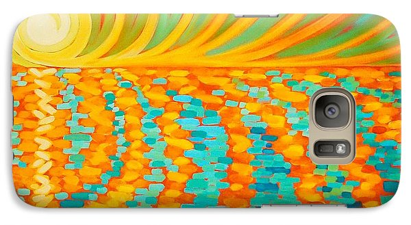 Galaxy Case featuring the painting A New Day Is Dawning by Janet McDonald
