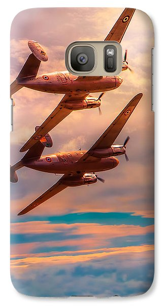 Galaxy Case featuring the photograph A Pair Of Flamingos by Chris Lord