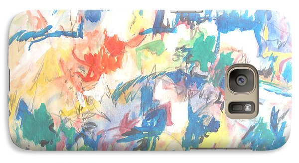 Galaxy Case featuring the painting A Pastoral Abstract by Esther Newman-Cohen