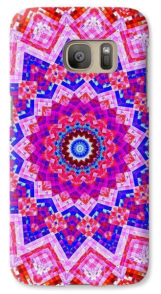 Galaxy Case featuring the digital art A Patchwork Quilt by Mario Carini