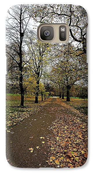 Galaxy Case featuring the photograph A Path In The Woods by Marwan Khoury
