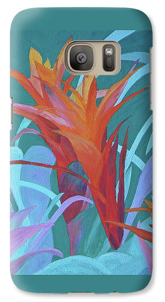 Galaxy Case featuring the painting A Pattern Of Bromeliads by Margaret Saheed