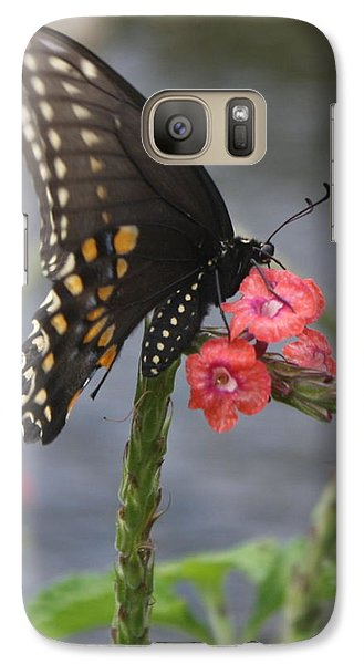 Galaxy Case featuring the photograph A Pause In Flight by Judith Morris