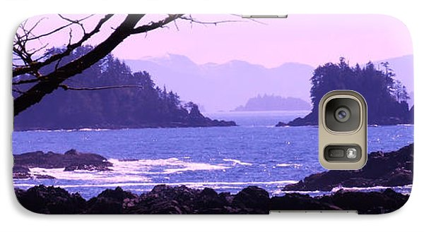 Galaxy Case featuring the photograph a Peek at the Bay by Marianne NANA Betts