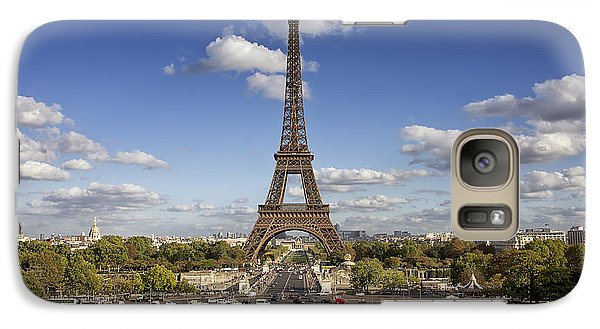Galaxy Case featuring the photograph A Perfect Day In Paris by Kim Andelkovic