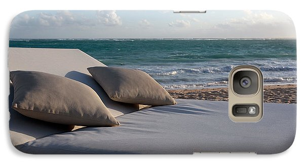 Galaxy Case featuring the photograph A Perfect Day On The Beach by Karen Lee Ensley