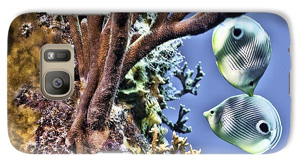 Two Butterfly Fish And Coral Reef Galaxy S7 Case by Paula Porterfield-Izzo