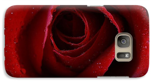 Galaxy Case featuring the photograph A Perfect Rose by Keith Hawley