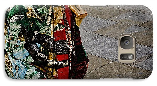 Galaxy Case featuring the photograph A Piccadilly Circus Street Performer by MaryJane Armstrong