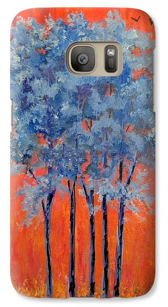 Galaxy Case featuring the painting A Place To Call Home by Suzanne Theis