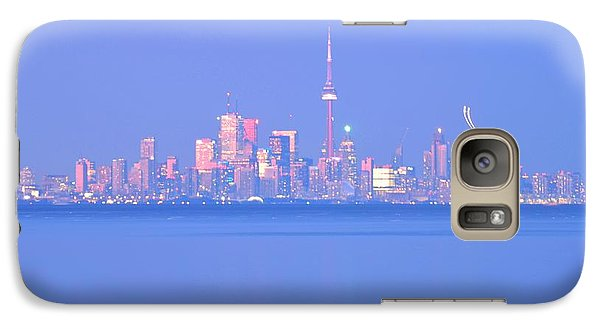 Galaxy Case featuring the photograph A Plan Overcast The City Sky Line  by Puzzles Shum