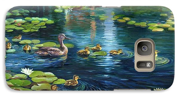 Galaxy Case featuring the painting A Plaza For Hope A Place For Life by Ping Yan