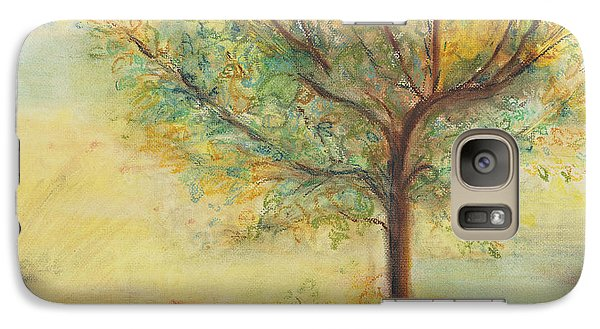 Galaxy Case featuring the painting A Poem Lovely As A Tree by Helena Bebirian