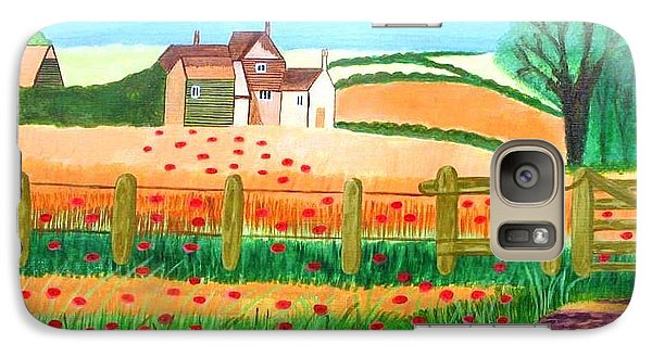 Galaxy Case featuring the painting A Poppy Field by Magdalena Frohnsdorff