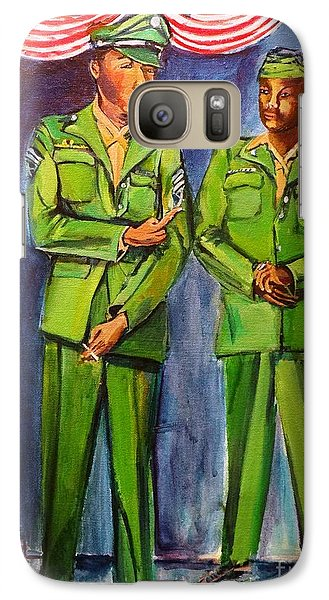 Galaxy Case featuring the painting Daddy Soldier by Ecinja Art Works
