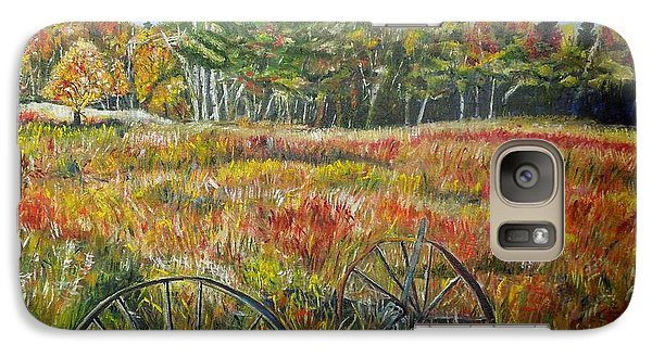 Galaxy Case featuring the painting A Prairie Treasure by Marilyn  McNish