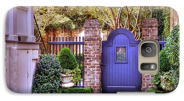 Galaxy Case featuring the photograph A Private Garden In Charleston by Kathy Baccari