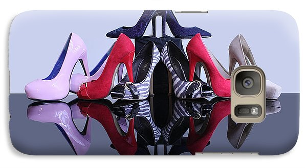 Galaxy Case featuring the photograph A Pyramid Of Shoes by Terri Waters