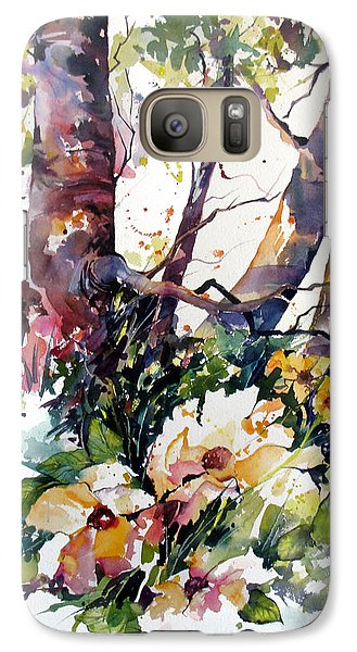 Galaxy Case featuring the painting A Quiet Place by Rae Andrews