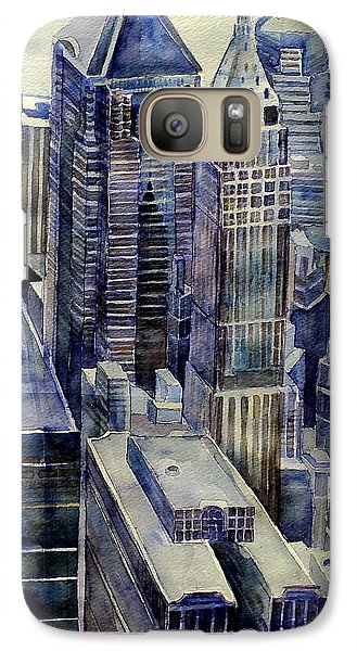 Galaxy Case featuring the painting Rainy Day In Gotham by Jeffrey S Perrine