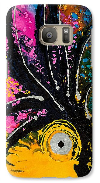 A Rare Bird - Tropical Parrot Art By Sharon Cummings Galaxy S7 Case by Sharon Cummings