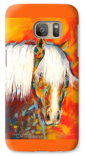 Galaxy Case featuring the painting A Red Hot Head by Mary Armstrong